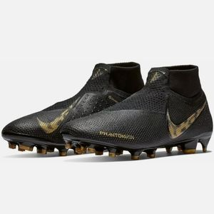 Nike Phantom VSN Elite DF FG Black Gold soccer 8